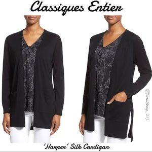 Classiques Entier 'Harper' Silk & Cotton Cardigan